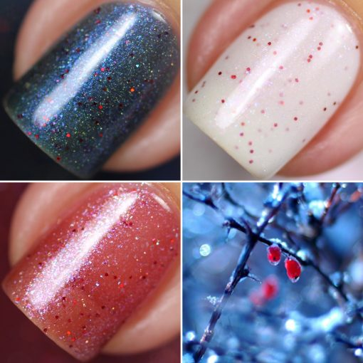 Holiday Winter Berry Trio Limited Edition Nail Polish by PI Colors