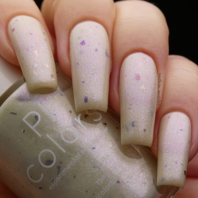 Azizos.000 Pale Green White Nail Polish by PI Colors