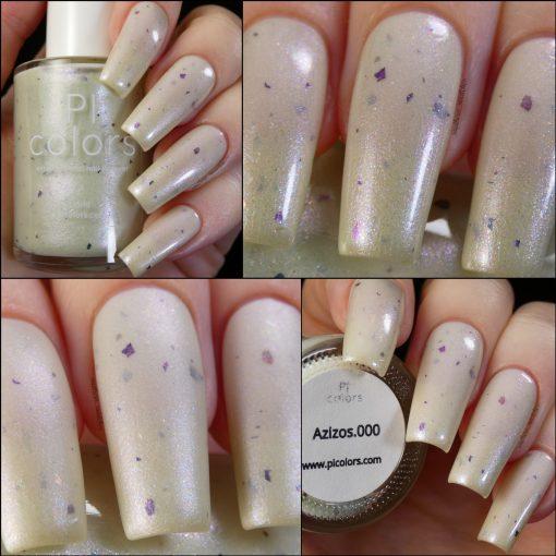 Azizos.000 Pale Green White Nail Polish by PI Colors