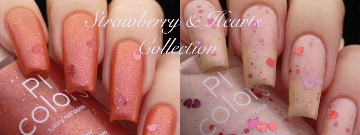 Strawberry & Hearts Nail Polish Collection